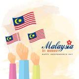 31 août - Jour de la Déclaration d'Indépendance de la Malaisie illustration de vecteur