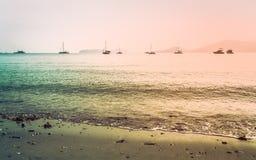 Ao彼处的海湾,普吉岛,泰国风景  免版税图库摄影
