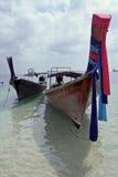 ao海滩longtails nang泰国二 库存图片