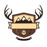 Ao ar livre emblema Fotografia de Stock