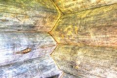 Ao canto de uma cabana rústica de madeira HDR Fotografia de Stock Royalty Free