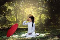 Ao Dai Вьетнам Стоковая Фотография