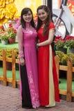 Ao Dai Vietnamese national dress Royalty Free Stock Photography