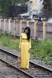 Ao Dai Vietnamese national dress  Royalty Free Stock Photo