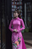 Ao Dai Vietnamese national dress Stock Photos