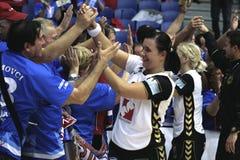 AO de Alborgue - RK Krim Mercator (campeões do EHF Foto de Stock