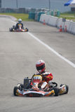 Ação de Karting Fotos de Stock Royalty Free