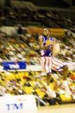 Ação do basquetebol dos Globetrotters de Harlem (borrada) Imagens de Stock Royalty Free
