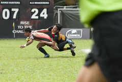 Ação do rugby Fotografia de Stock