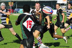 Ação do rugby Foto de Stock