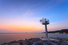 Ao Kai ,Thailand. A light tower at Ao Kai ,Rayong ,Thailand Royalty Free Stock Photos