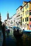 Ao longo da rota da água em Veneza Foto de Stock