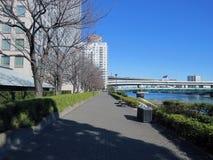 Ao longo do rio de Sumida Tóquio imagem de stock royalty free