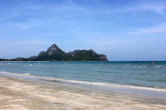 Ao Manao, Thailand. Low tide in the beautiful bay of Manao (Ao Manao) in Prachuap Khiri Khan, Southern Thailand Royalty Free Stock Images