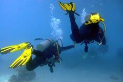 Ao mergulho com amor Imagem de Stock Royalty Free