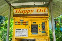 AO NANG,泰国- 2018年2月09日:自动售货机室外看法汽油汽油的在北碧,泰国 免版税库存照片