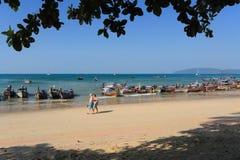 AO Nang, επαρχία Krabi, Ταϊλάνδη Στοκ φωτογραφίες με δικαίωμα ελεύθερης χρήσης