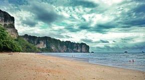 Ao Nang海滩 免版税图库摄影