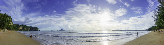 Ao Nang Beach Panorama. Royalty Free Stock Images