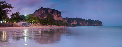 Ao Nang Beach Sunset, Krabi,Thailand Stock Photos