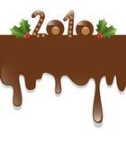 Año Nuevo 2010 del chocolate Imágenes de archivo libres de regalías