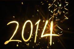 Año Nuevo 2014 Fotografía de archivo libre de regalías