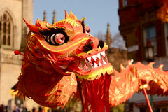 Año Nuevo chino de Liverpool - entre en el dragón Foto de archivo
