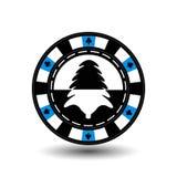 Año Nuevo de la Navidad del casino del póker del microprocesador Ejemplo EPS 10 del icono en fácil blanco separar el fondo uso pa Fotos de archivo libres de regalías