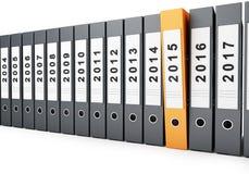 Año Nuevo 2015 de las carpetas de la oficina Imágenes de archivo libres de regalías