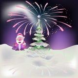 Año Nuevo en el Polo Norte Foto de archivo libre de regalías