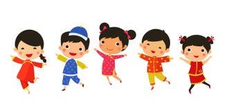 Año Nuevo Greetings_children Imagen de archivo