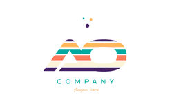 ao a o line stripes pastel color alphabet letter logo icon templ Royalty Free Stock Photos