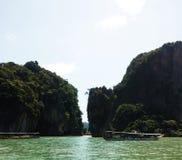 Ao Phang-Nga. Is beautiful bay in Thailand royalty free stock image