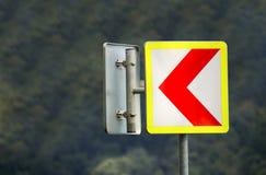 Ao sinal de estrada esquerdo Foto de Stock Royalty Free