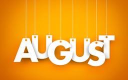 août Photographie stock libre de droits