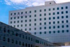 19 août 2015 - Dallas, le Texas, Etats-Unis La nouvelle addition à Parkl Image stock