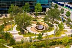 19 août 2015 - Dallas, le Texas, Etats-Unis La nouvelle addition à Parkl Images libres de droits