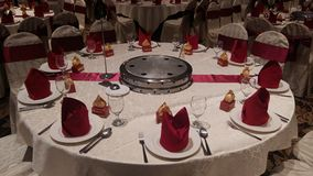 7 août 2016, Kuala Lumpur, Malaisie Une fonction de dîner de mariage de banquet Photos stock