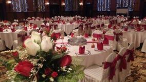 7 août 2016, Kuala Lumpur, Malaisie Une fonction de dîner de mariage de banquet Image stock