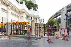 23 août 2015 : La statue de Brahma après attaque et bombe de terreur Images libres de droits