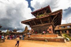 18 août 2014 - temple de Bhaktapur, Népal Images stock