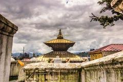18 août 2014 - temple de Pashupatinath à Katmandou, Népal Image libre de droits