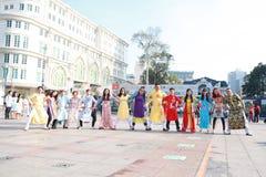 Ao vietnamien Dai Photos libres de droits