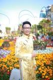 Ao vietnamien Dai Photo libre de droits