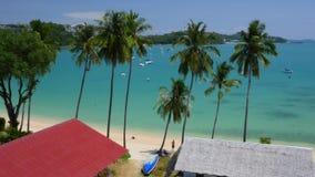 Ao Yon Beach, Phuket, Thailand. Top view on the Andaman Sea stock video