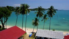 Ao Yon Beach, Phuket, Thailand. Top view on the Andaman Sea.  stock footage