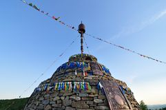 """AoBao. Mongolian """"Aobao"""" is a kind of stone heap, where lover's date place Stock Photos"""