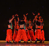 Aobao-Grassland man-Chinese folk dance Royalty Free Stock Images