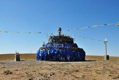 Aobao i Inner Mongolia arkivfoton