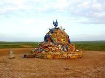 Aobao, ovoo, oboo, em Inner Mongolia imagem de stock royalty free